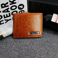 Genuine Leather Men Coin Packe Wallets Solid Short Card Holder Designer Purses Dollar Price Pouch Cartera