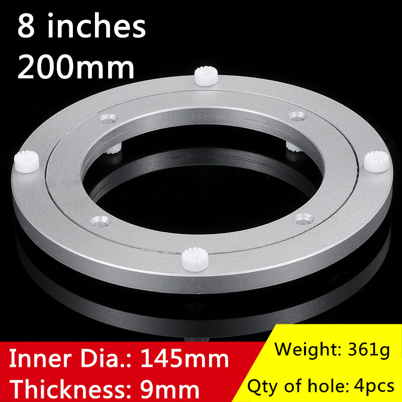 2pcs 8 inches 20cm Small Swivel Plate of Aluminium Alloy Material for Kitchen Furniture Lazy Susan Turntable Dining Table 1pc 20 inches 485mm big lazy susan turntable dining table aluminium alloy swivel plate for kitchen furniture
