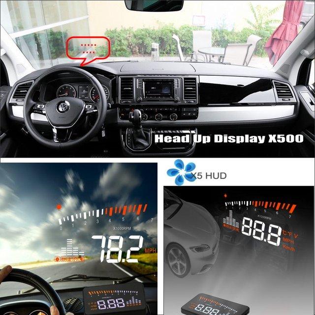 Wyświetlacz samochodowy HUD Head Up dla volkswagena VW T5 Transporter Caravelle 2012-2018 ekran przedniej szyby bezpieczny ekran projektora jazdy