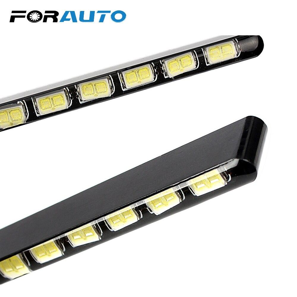 Auto Styling Tagfahrlicht Lichtquelle SMD Auto DRL 7030 Tageslicht Led Streifen 2 stücke 12 LEDs