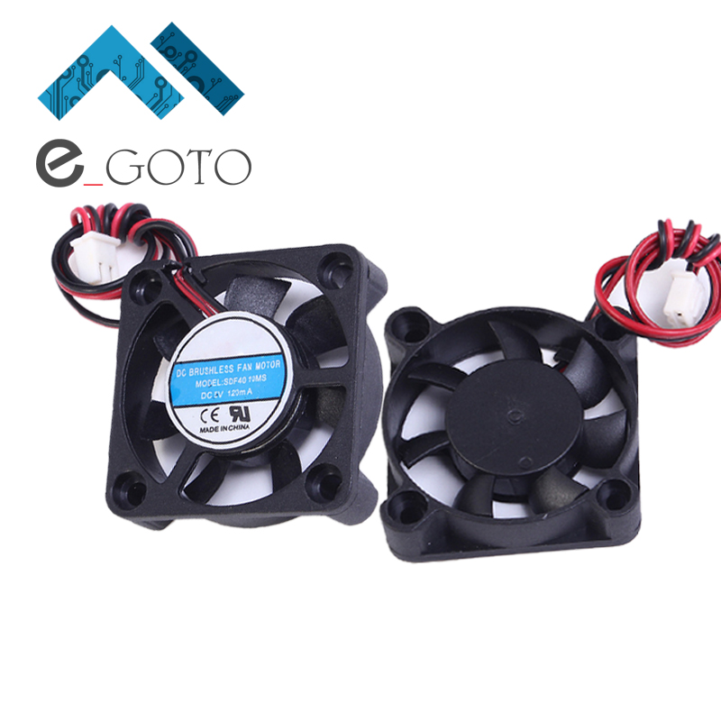 DC 5V 120mA Two Wire Silent Fan 4010 A Type Portable Computer Cooler Fan Heat Sink 40x10mm Small PC Laptop CPU Cooling