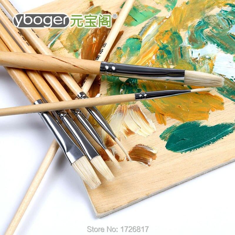 6pcs Flat flat Long length  Bristle brushes painting supplies oil  watercolor Acrylic Gouache  brush for artist drawing art pen жесткий диск hgst travelstar z5k1 1tb 1w10028