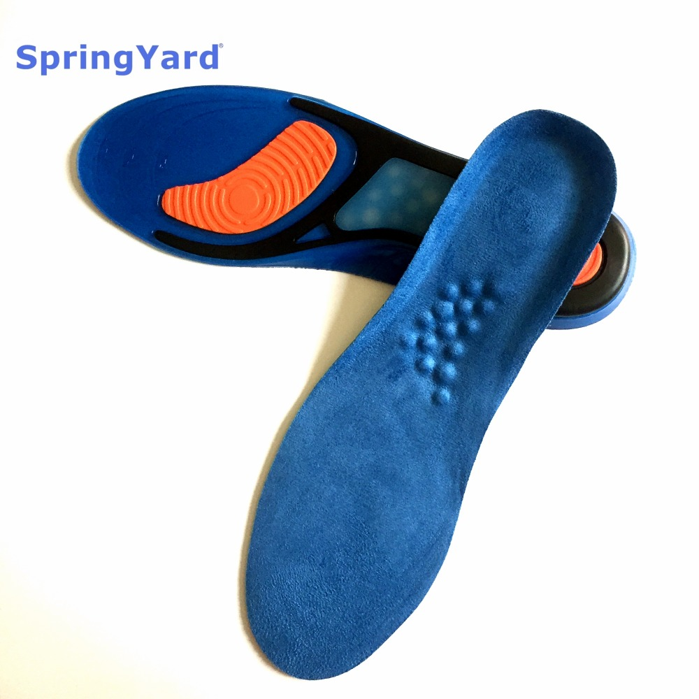SpringYard Gel+Suede Newest Shock Absorption Cushion Massaging Running Basketball Sport Insoles for Shoes Woman Men