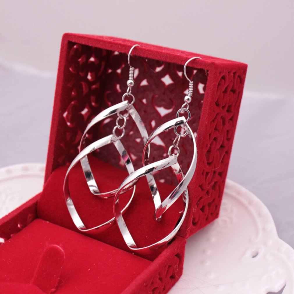 Zarte Damen Ohr Haken Elegante Frauen Ohrringe Charming Mädchen Schmuck Silber Farbe Trendy Anhänger Party Zubehör Für Geschenk