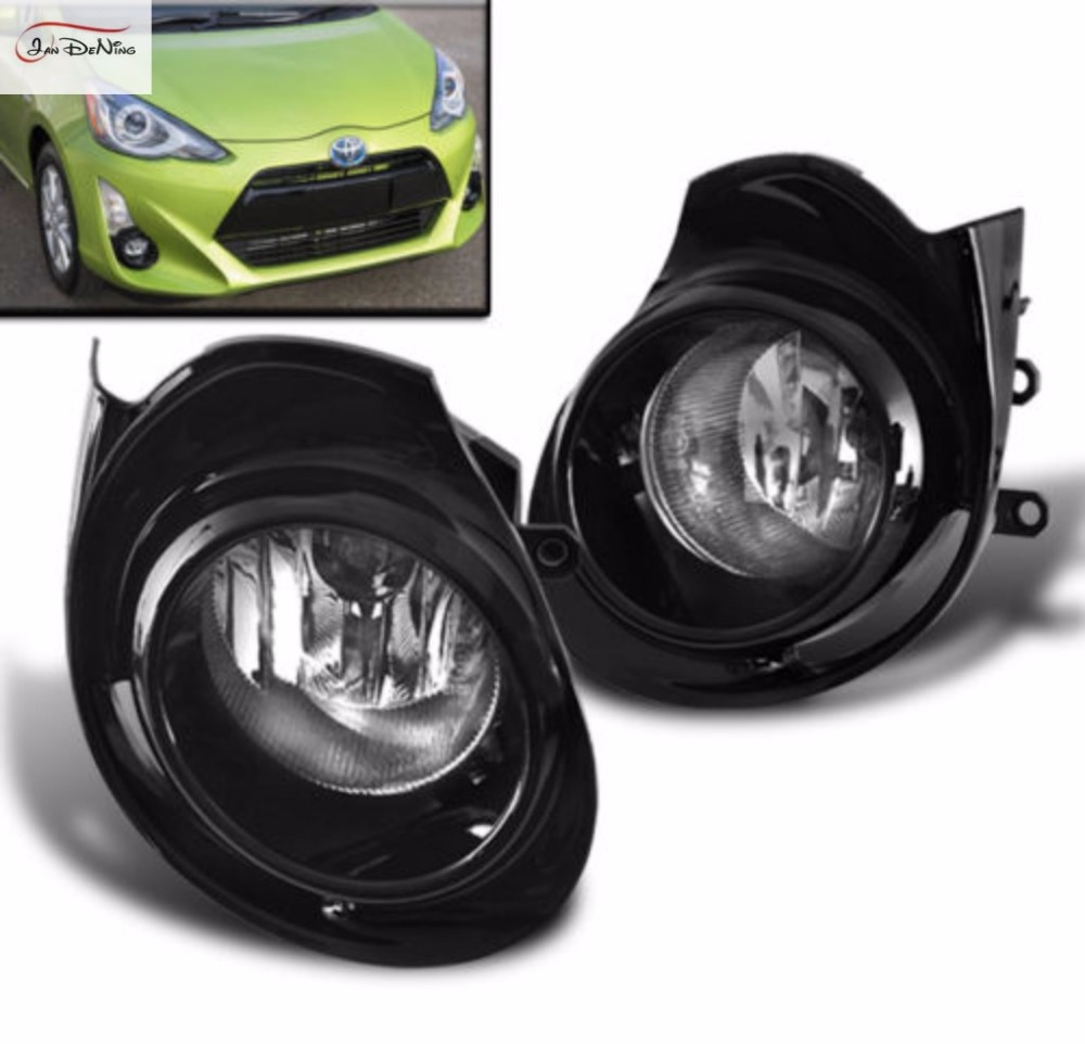 JanDeNing Car Fog Lights for Toyota AQUA 2015/TOYOTA PRIUS C 2016 Halogen bulb:H11-12V 55W Front Fog Lights Bumper Lamps Kit car styling fog lights for toyota camry 2012 2014 pair of 12v 55w front fog lights bumper lamps daytime running lights