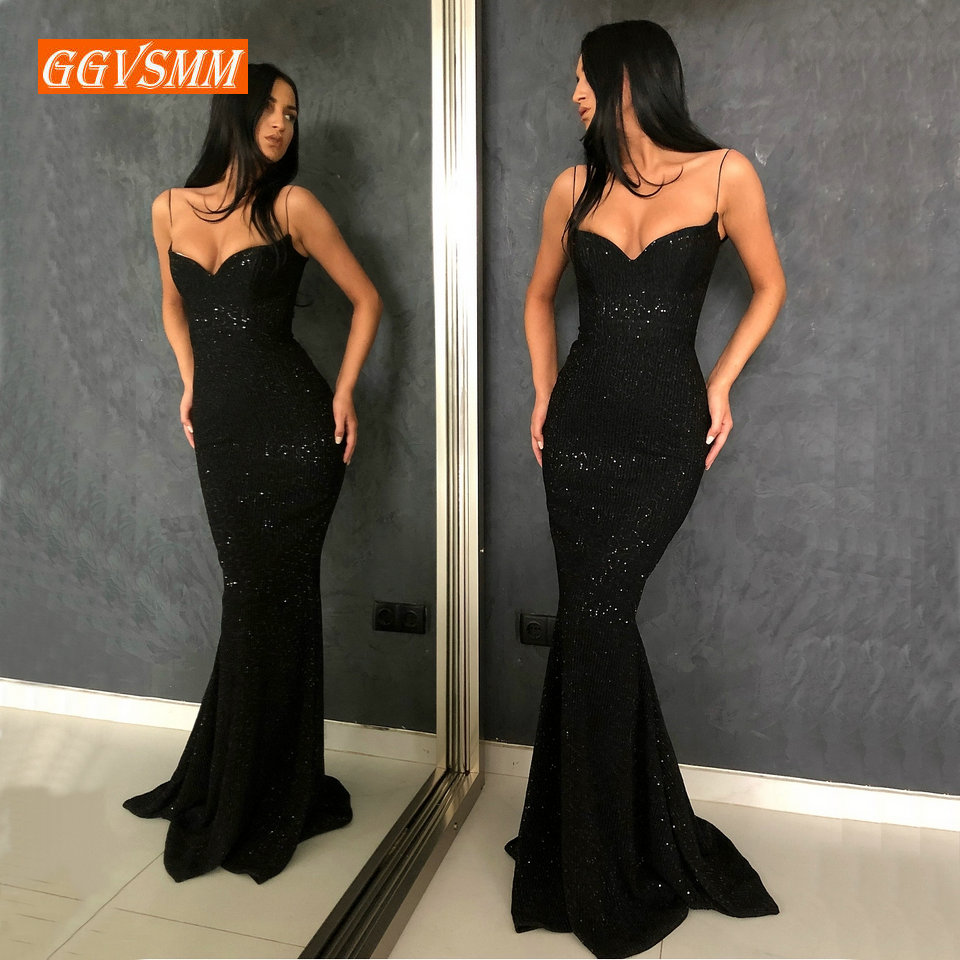Gorgeous Meimaid   Evening     Dress   Long Party 2019 Slim Fit   Evening   Gown Women Sweetheart Elastic Satin Zipper Formal Prom   Dresses