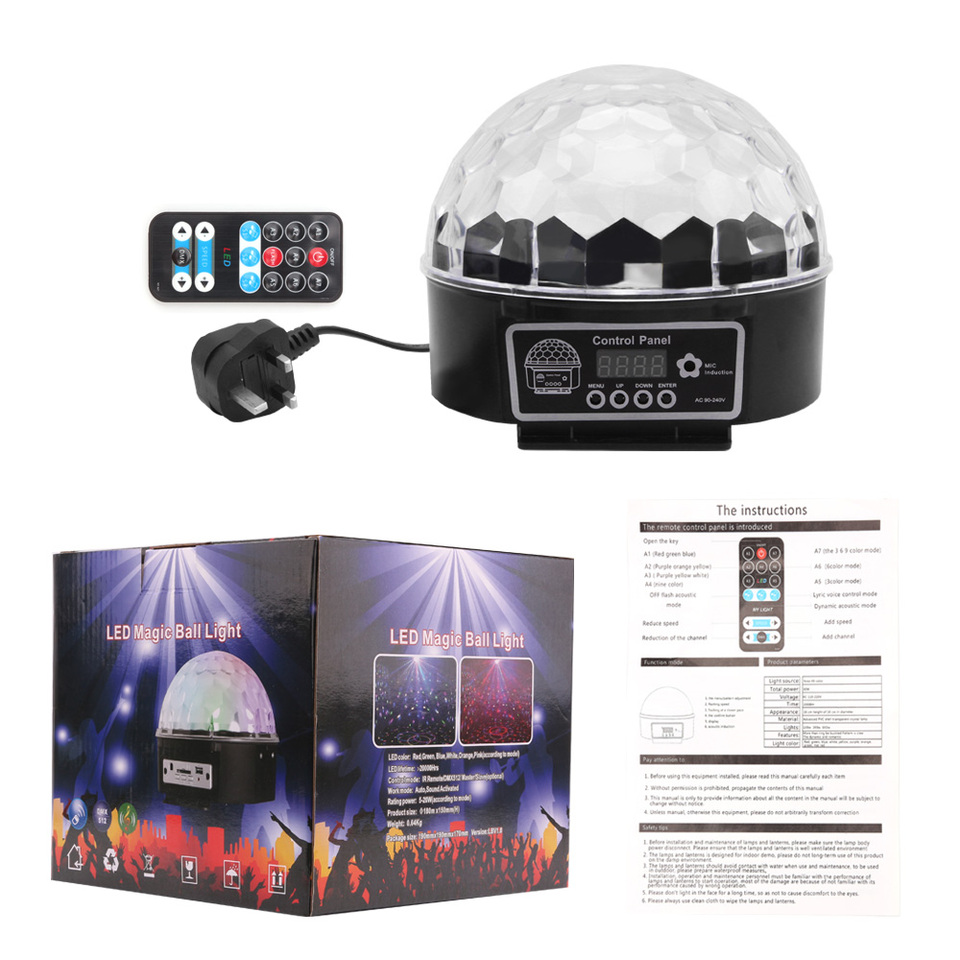 Crystal Ball Magical Spinning Remote Control 6 Colors Rgb Disco Ball Lights For Parties Led Stage Lights Disco Ball Light Light For Partyrgb Disco Aliexpress