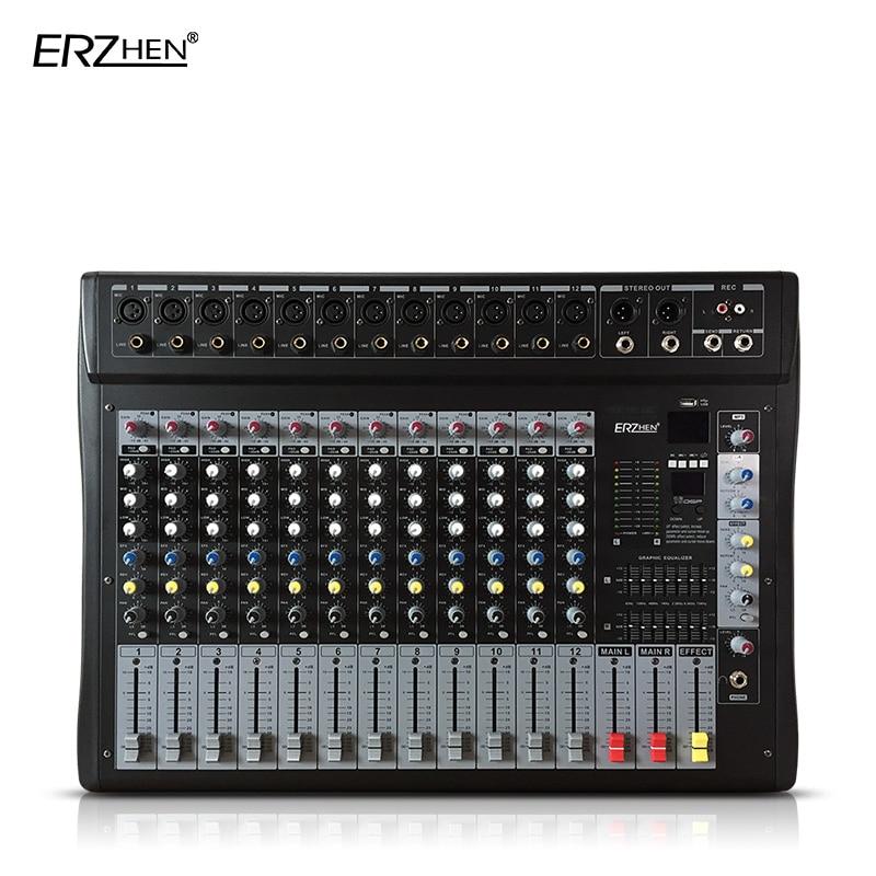Nett Audio-mischpult W9000t12 Professionelle Mischer Audio-verstärker Sound Processor 12 Kanal Dj-equipment