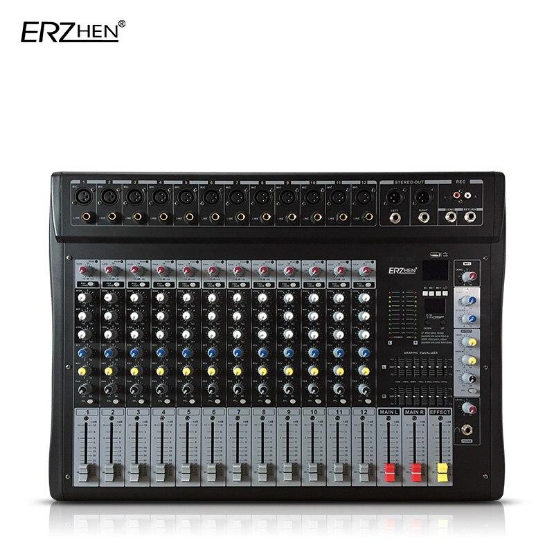 Professionelle Audiogeräte Nett Audio-mischpult W9000t12 Professionelle Mischer Audio-verstärker Sound Processor 12 Kanal