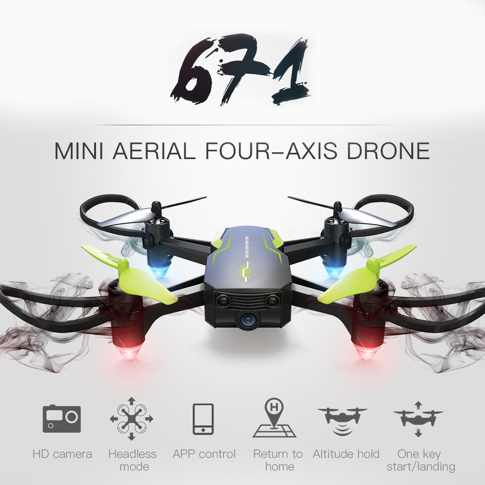 Mini Drone 601W 2.4G Wifi FPV 0.3MP HD Camera With Altitude Hold RC Helicopter Quadrocopter Selfie RC Drone with Camera HD пляж на самуи