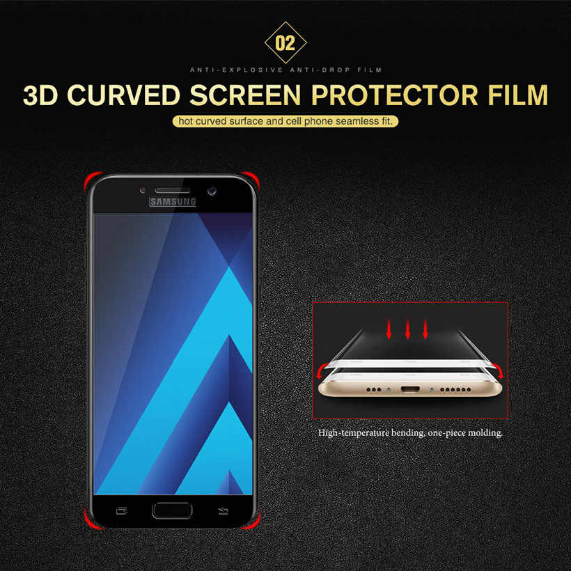3D Curved Edge Full Cover Tempered Glass For Sony Xperia XZ3 Screen  Protector Protective Film For Sony XA2 Plus Glass Phone