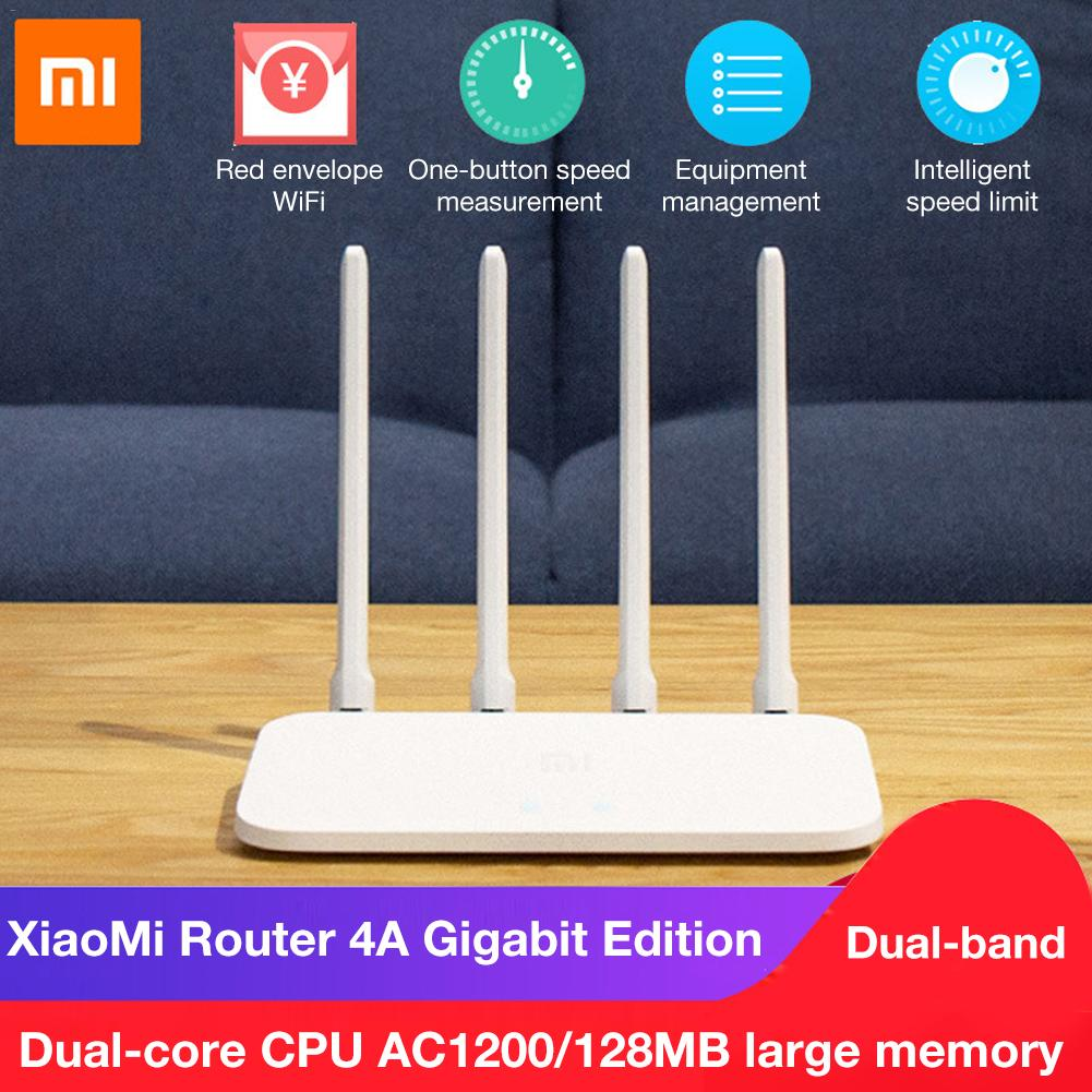 Xiaomi Remote-App-Control Mi-Router Gigabit-Edition Wifi-Rom 5ghz 128MB High-Gain Antennas