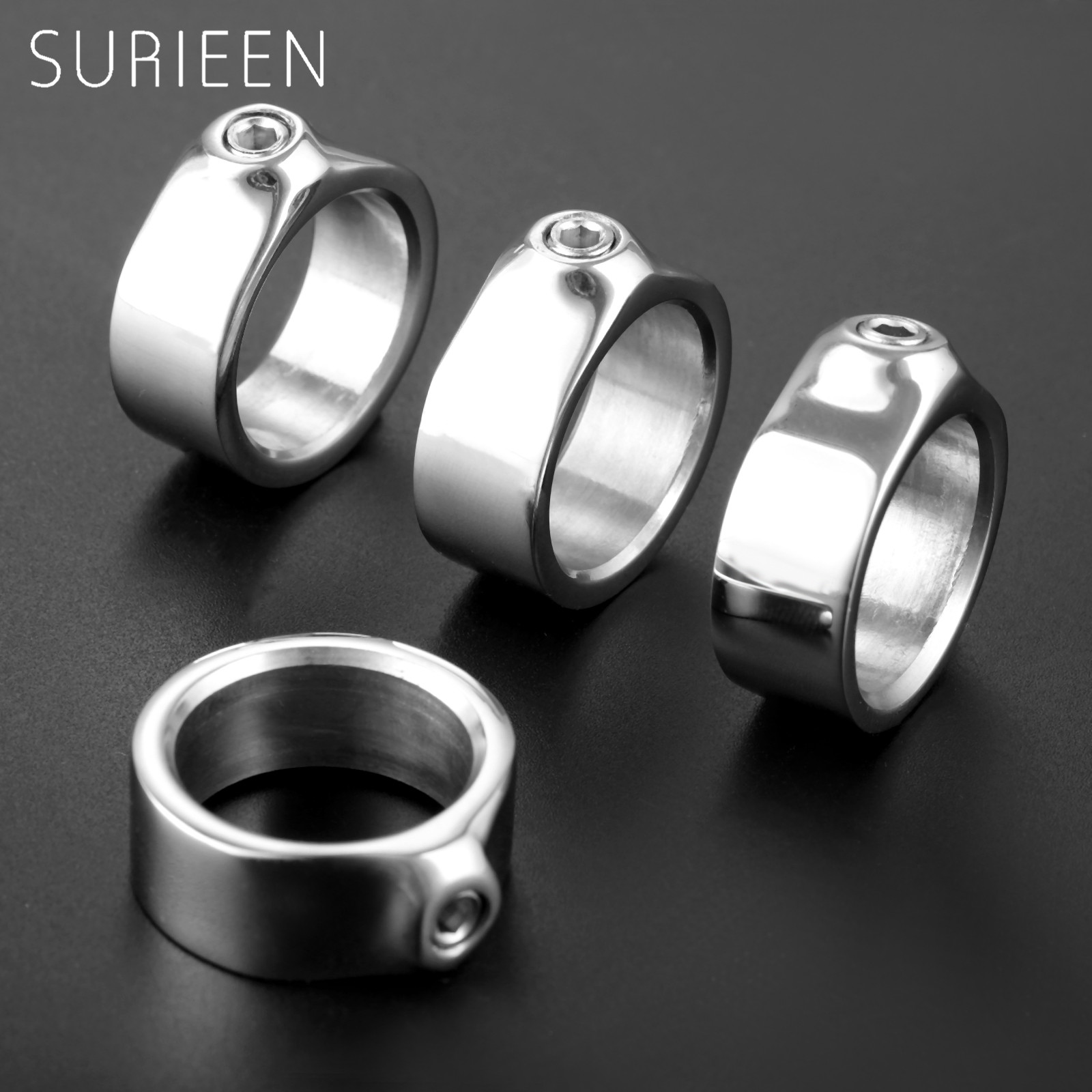 SURIEEN 4Pcs Marine Boat Yacht 316 Stainless Steel Adjustment O Ring With Set Screw Yachts Car Trailer Boats Accessories Marine