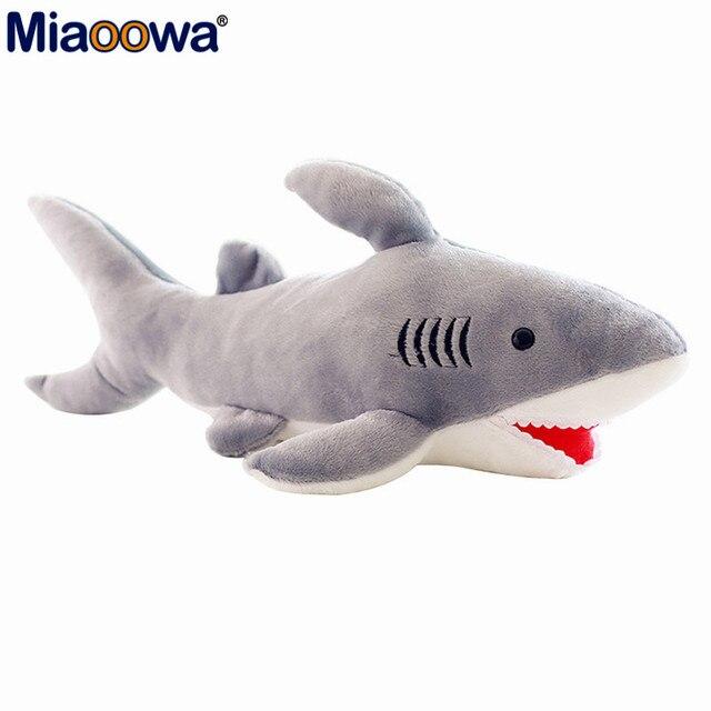 1pc 65cm Cute Shark Plush Toy Simulation Stuffed Animal of Shark Soft Toy  Factory Supply Christmas gift d217185e2