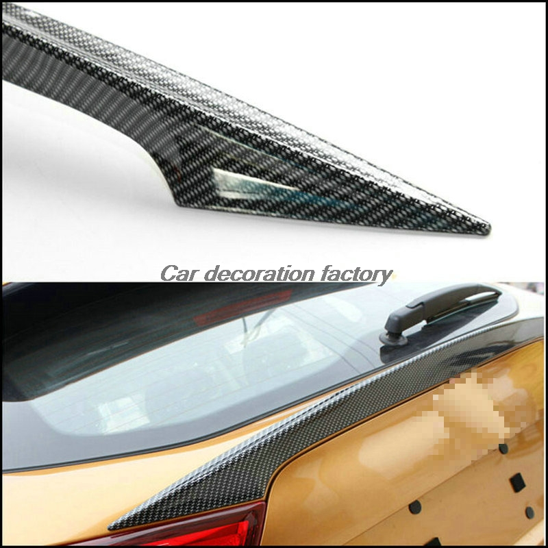 Car Styling FIT FOR NISSAN QASHQAI 2014 2015 2016 J11 CARBON FIBER EFFECT SPOILER REAR TRUNK LID COVER TAILGATE TRIM HATCH DOOR high quality for qashqai 2016 car body styling cover detector abs chrome rear door bottom tailgate frame plate trim lamp 1pcs
