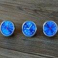 Стайлинга автомобилей метр оригинальность украшения лучший подарок синий 4 СМ прохладный кварцевые часы + гигрометр + термометр