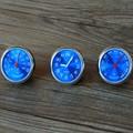 Car styling meter originalidad decoración Adornos mejor regalo azul 4 CM enfriar reloj de cuarzo + higrómetro + termómetro
