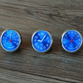 car styling meter  originality decoration Ornaments best gift blue 4CM cool quartz watch + hygrometer + thermometer