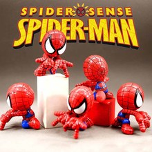 Marvel Toys The Avengers Figure 7cm Spider Man Action Figure Collectible Model Doll Children Toys цена
