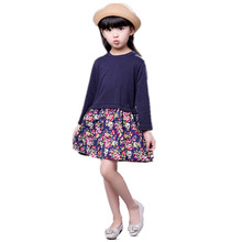 Cotton Girls Dresses Kids Girls Dress Long sleeve Princess Dress Fashion Autumn Winter Kids Dresses Children's clothing For 1-8Y