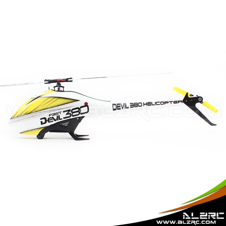 ALZRC-Devil 380 FAST FBL Super Combo RC Helicopter KIT RC Electric Helicopter 380FBL Frame kit Power-driven Helicopter Drone alzrc devil 450 helicopter parts 450 fast fiberglass shell