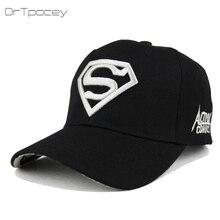 2018 New Letter Superman Cap Casual Outdoor Baseball Caps For Men Hats  Women Snapback Caps For Adult Sun Hat Gorras wholesale 34257d7ad37