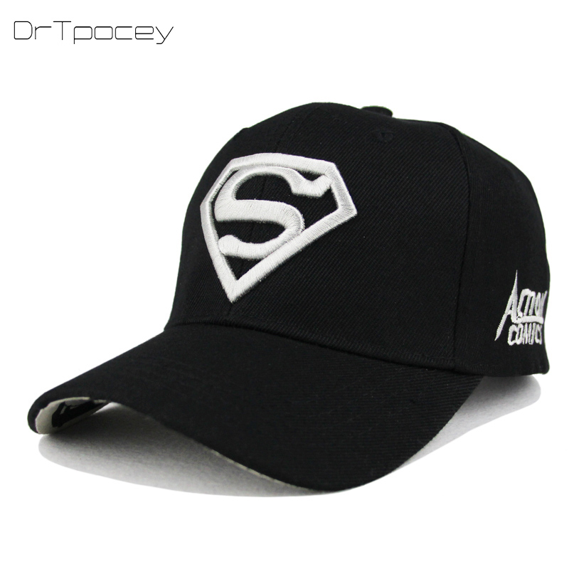 2018 New Letter Superman Cap Casual Outdoor Baseball Caps For Men Hats Women Snapback Caps For Adult Sun Hat Gorras wholesale aetrue winter hats skullies beanies hat winter beanies for men women wool scarf caps balaclava mask gorras bonnet knitted hat