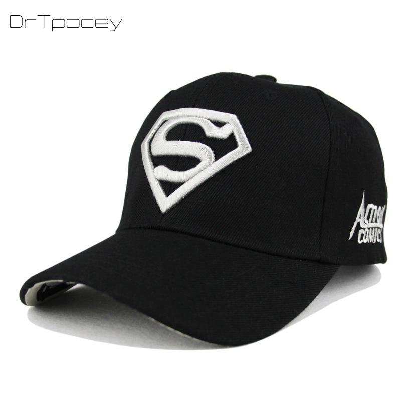 2018 New Letter Superman Cap Casual Outdoor Baseball Caps For Men Hats Women Snapback Caps For Adult Sun Hat Gorras wholesale