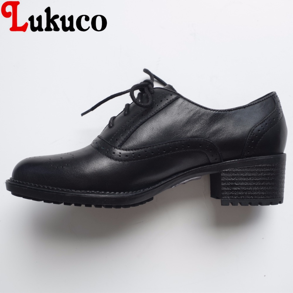 Lukuco neutral style carved decoration women casual pumps microfiber made low heel lace-up shoes with pigskin inside lukuco pure color women mid calf boots microfiber made buckle design low hoof heel zip shoes with short plush inside