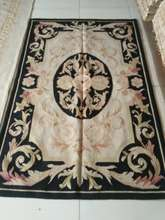 Free Shipping 4'X6' Woolen Aubusson rug handmade 100% wool rugs and carpets different sizes