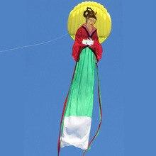 8 м 3D Мягкая Кайт одной линии Parafoil кайт Китайский Чанг-e мух традиционные воздушных змеев