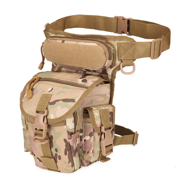 Tactical Thigh Drop Leg Bag With Water Bottle Pouch Nylon Waist Pack Outdoor Military Hunting Camping Climbing Sport Bags