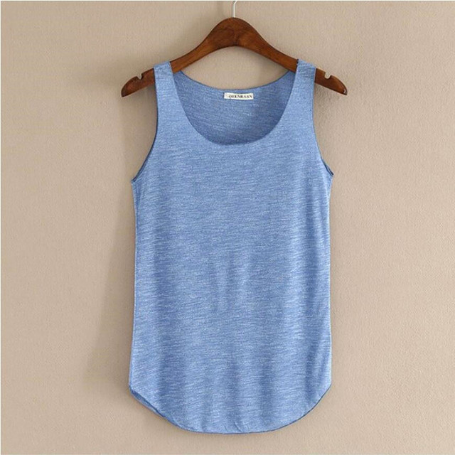 Spring Summer New Fitness Tank Tops Women Sleeveless Round Neck Loose T Shirt Ladies Vest Singlets Slim T-shirts Woman Clothes 2