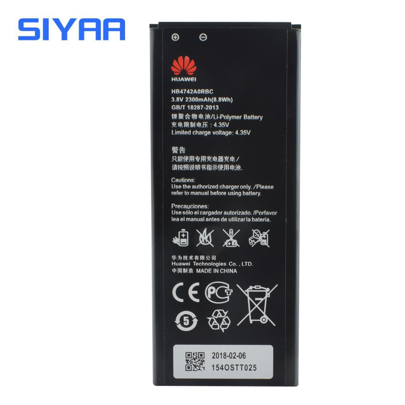 D'origine SIYAA Batterie HB4742A0RBC Pour Huawei Honneur 3C G630 G730 G740 H30-T00 H30-T10 H30-U10 H30 Batterie Haute Capacité 2300 mAh