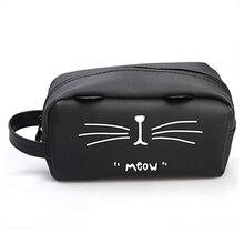Cute Cat Makeup Cosmetic Bag Waterproof Soft Pectin Toiletry Bag Kawaii Beauty Case Storage Travel Organizer Bag Pencil Case