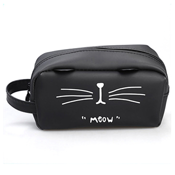 Cute Cat Makeup Cosmetic Bag Waterproof Soft Pectin Toiletry Bag Kawaii Beauty Case Storage Travel Organizer Bag Pencil Case j26 kawaii cute moomin canvas pen bag pencil holder storage case school supply birthday gift cosmetic makeup travel
