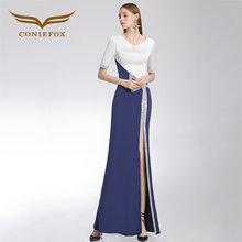 b315af493eb CONIEFOX 32366 Sexy Mode Asymmetrische Damen Retro eleganz Appliques prom  kleider party abendkleid kleid lang mode