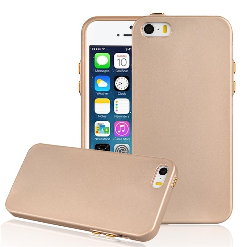 Luxury Solid Color Rose Gold Hard TPU Phone Back Cover Cases For iPhone 5 5s SE 6 6 plus 7 7 plus