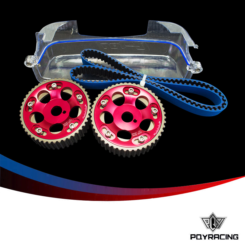 PQY RACING- HNBR Racing Timing Belt+Aluminum Cam Gear+Cam Cover FOR 2JZ-GE and 2JZ- GTE Supra,GS300,IS300 PQY-TB1006B+6531R+6332 supra is 2602c