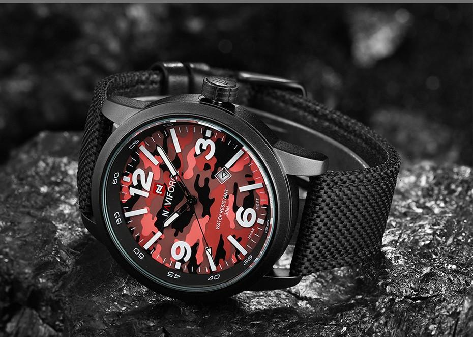 2017 Nouveau NAVIFORCE Hommes Quartz Sport Militaire Montres Hommes De Luxe de Marque De Mode Casual Montre-Bracelet Relogio Masculino Homme Horloge 12