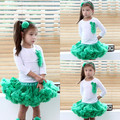 2015 free shipping  Baby girls chiffon  fluffy  solid color  infant  pettiskirts  tutu kids   Ballet dance wear