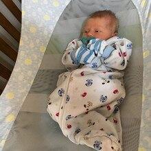 Детская безопасность детский гамак печать новорожденных Съемная переносная люлька 100X50 см сумка для хранения Младенческая Люлька-качалка многофункциональная детская