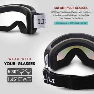 Image 4 - Kayak gözlüğü, kış kar sporları anti sis ile çift Lens kayak maskesi gözlük kayak erkek kadın kar gözlüğü M3