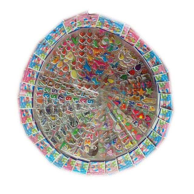 50 Sheets 21.5*7.5CM Cartoon Kids Stickers Toys Pegatinas Emoji  Car-styling Lovely Reward Stickers For Children adesivo Kid