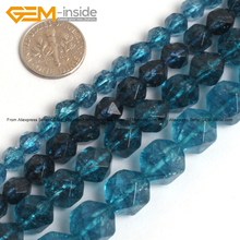 Gem-inside Faceted Beads Of Cambay Dyed Blue Kyanite Crystal Beads For Jewelry Making 6-12mm 15inches DIY Jewellery