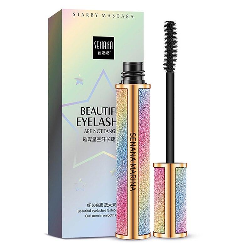 SANANA 4D Silk Fiber Lashes Thick Lengthening Mascara Long Black Lash Eyelash Extension Eye Lashes Brush Makeup Eye Cosmetics 5
