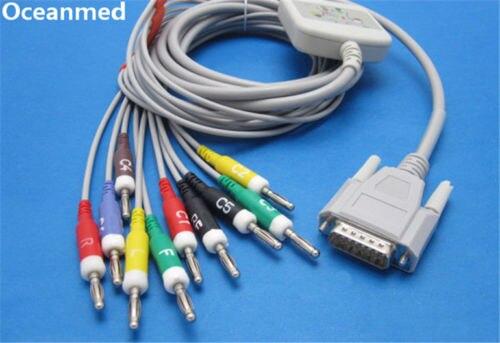 Nihon Kohden ECG-9130 Direct ECG EKG Cable 10 Leads IEC Banana 4.0mm, Compatible BJ-902D
