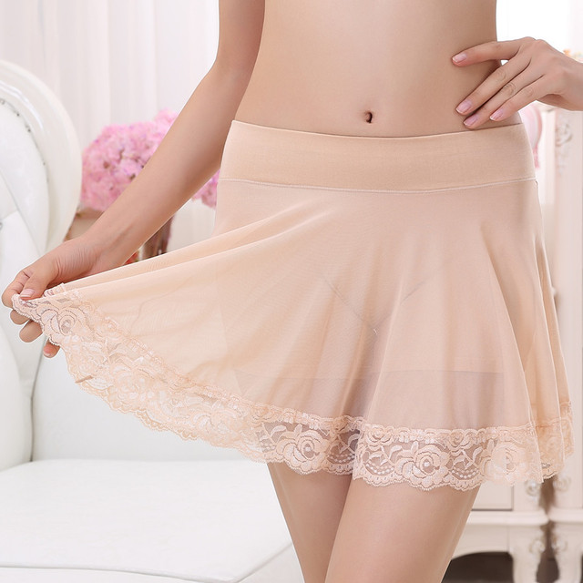 New Fashion Modal Women Shorts Skirts Mesh Solid Plus Size Lace