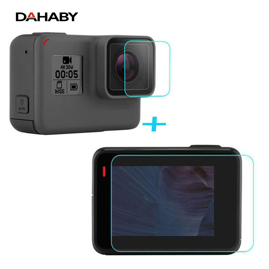 DAHABY For GoPro Go pro Hero6 Hero 6 Tempered Glass Screen Protector Camera Lens LCD Screen Ultra Thin Clear Protective film