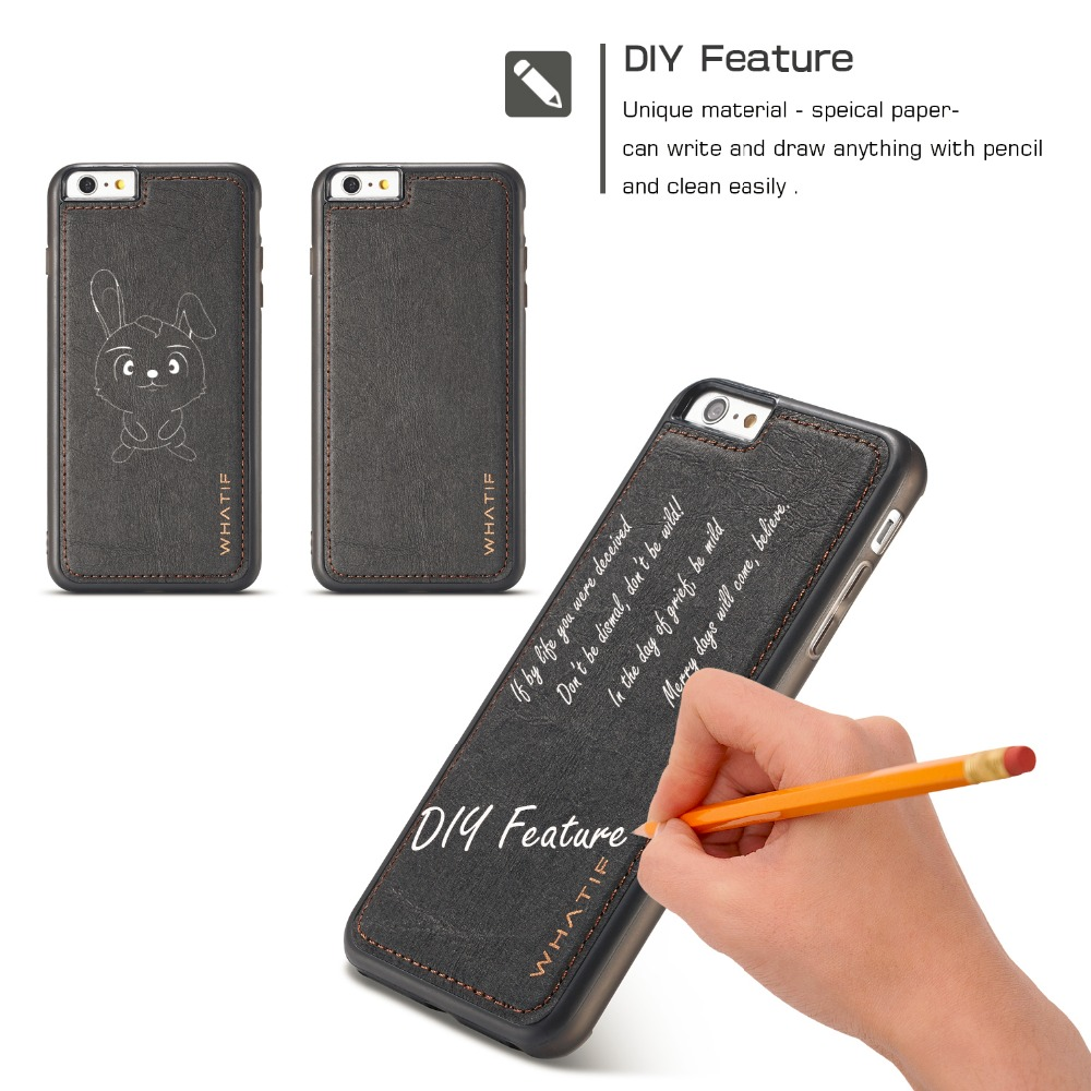 For iPhone 6 6S Plus Case Magnetic Brown Paper Leather Hit Anti-shock Environmental Written Drawing Case for iphone X 7 8 Plus